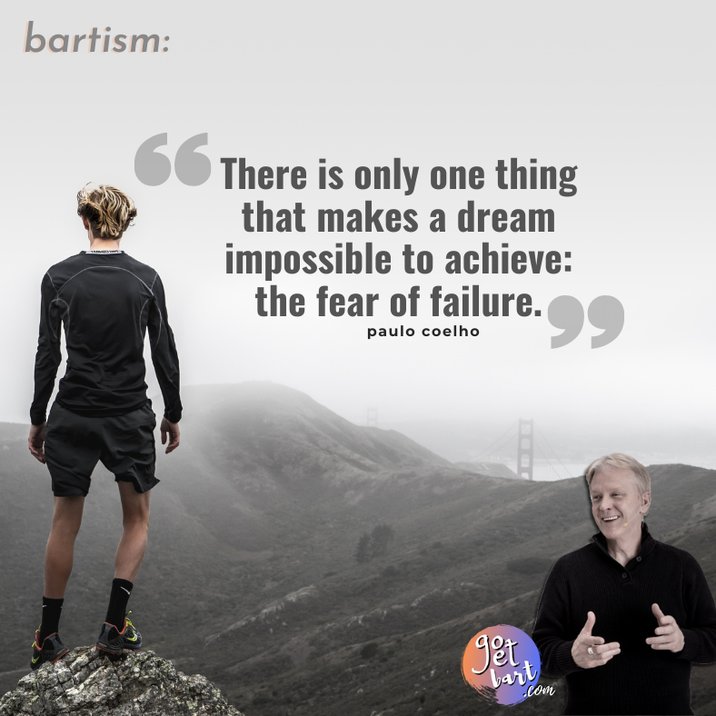 Failure comes before success in the dictionary. There is a reason for that. #failure #success #paulocoelho #gogetbart #MyMomentToSucceed #artistsasentrepreneurs #successeducator #stagedoorenterprises #emaginesuccess #bartism