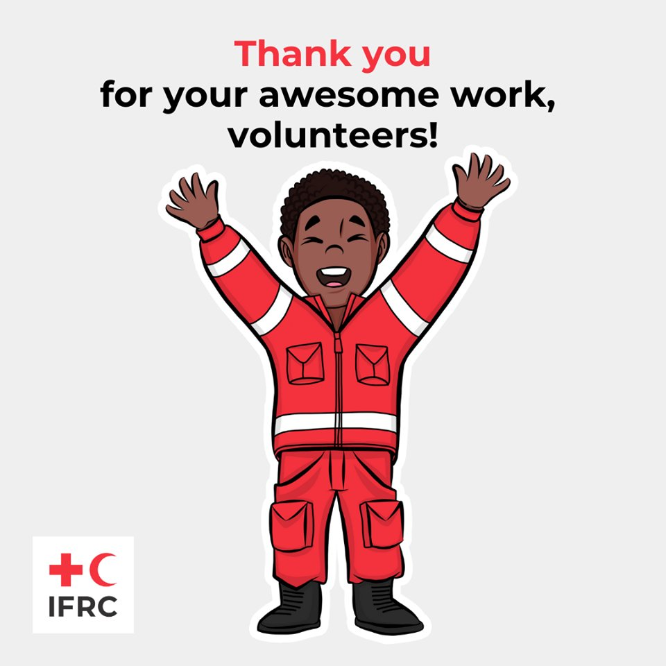 Thank you for your awesome work volunteers! ❤️