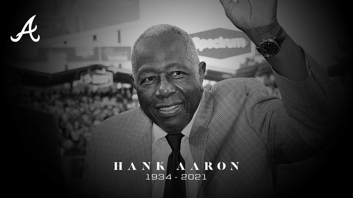 We join the baseball community in mourning the passing of Hall of Famer Hank Aaron. The Los Angeles Dodgers send their condolences to the Aaron family and the Braves organization during this difficult time.