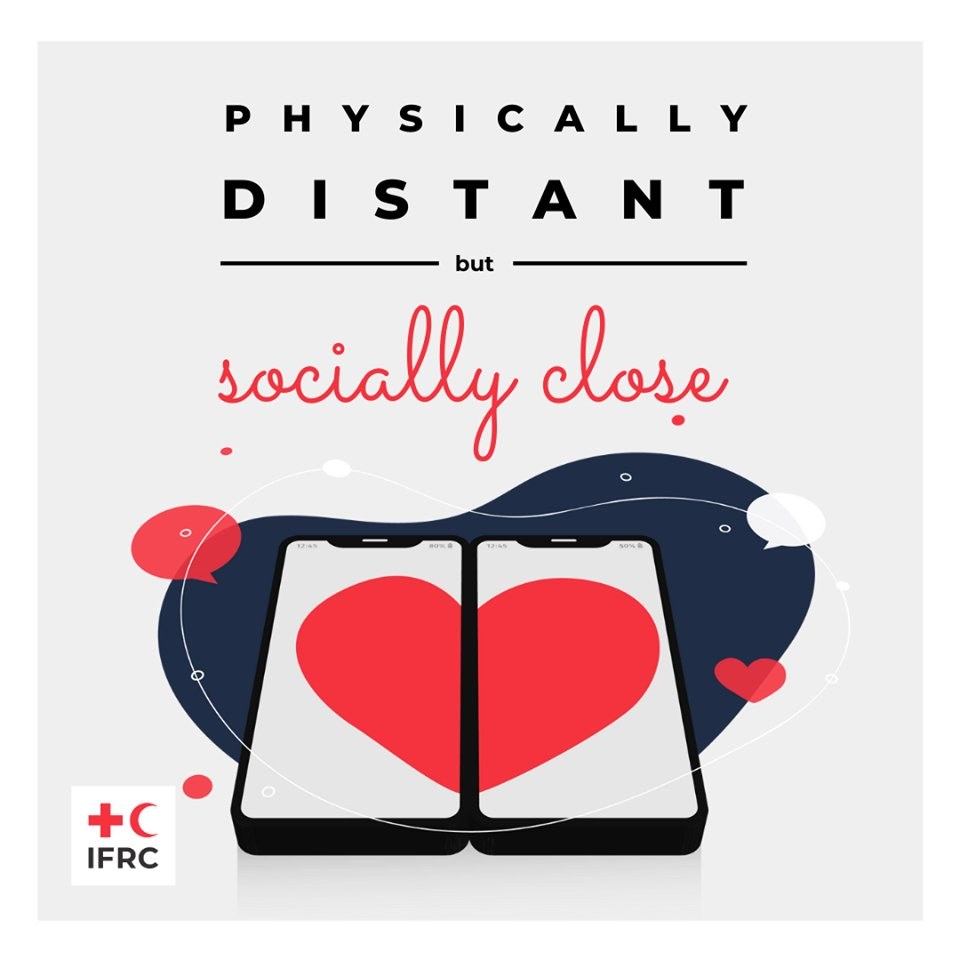 📱 ❤️ 📱  Physically distant —but— socially close.  #COVID19