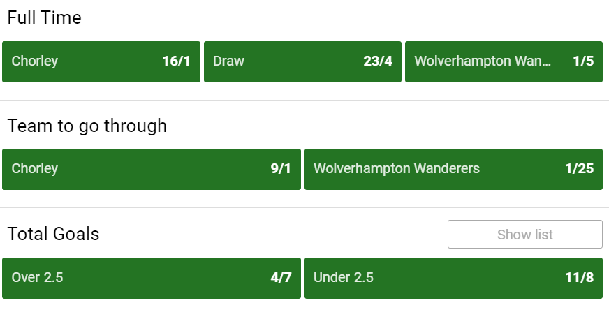😲 Crawley beat Leeds last time out  Could Chorley add Wolves to their list of scalps tonight?  We're In-Play, all the way    🔞
