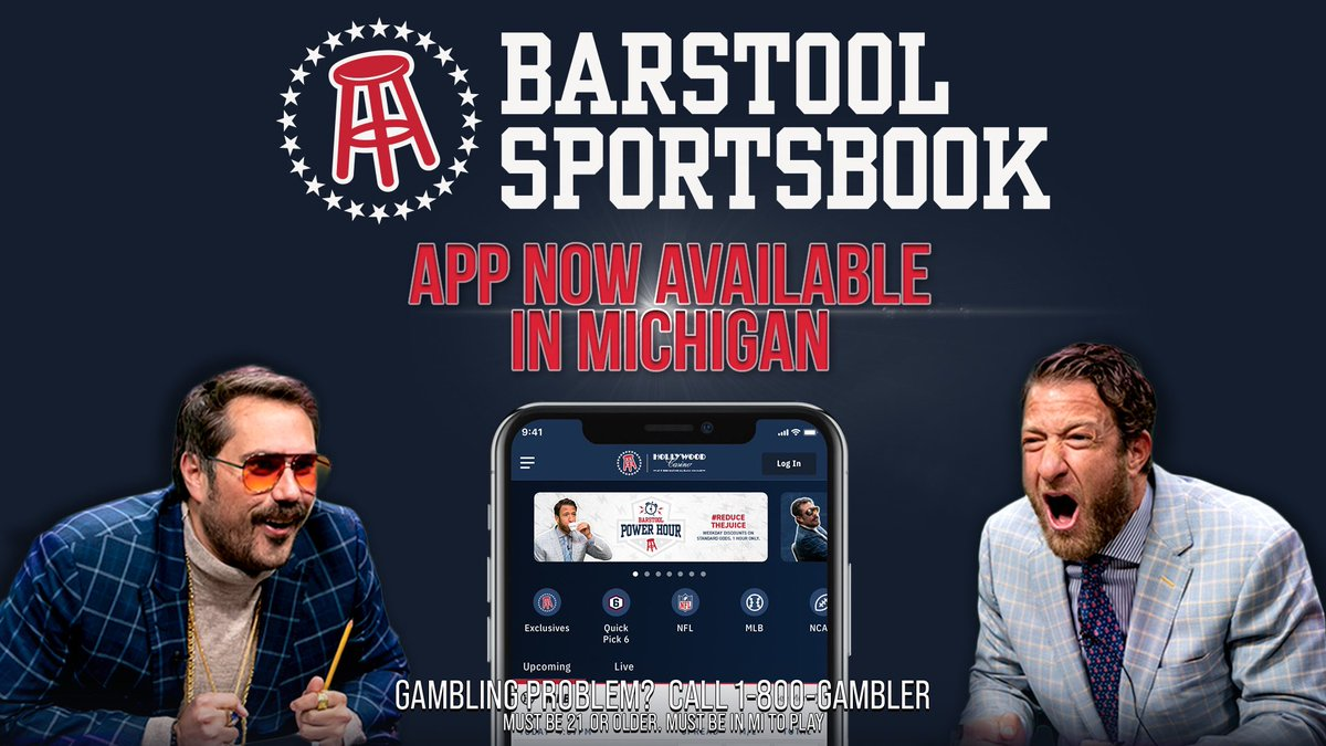 🚨WE ARE LIVE FOLKS!!!🚨  If you're in Michigan, download the Barstool Sports Book app and once your deposit is wagered, @PNGamingInc will match that amount to the #barstoolfund to help small business in Michigan. What's not to love?