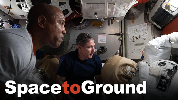 Spacewalk prep underway 💇‍♂️ 👨‍🚀 ✅   The crew aboard the @Space_Station is getting set for a stretch of spacewalks starting on January 27th to upgrade, repair and maintain the orbiting lab. Fresh cuts & suiting up on this week's #SpaceToGround: