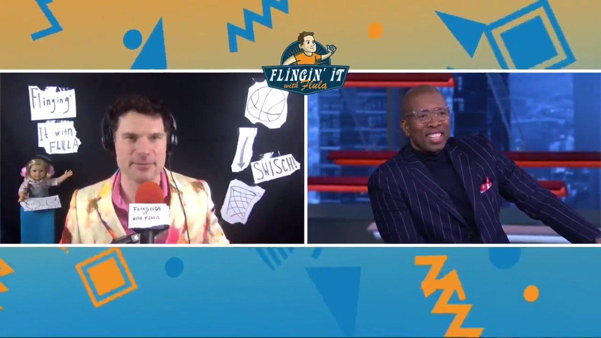 """""""You played with no underwear?"""" 😂  Kenny makes a guest appearance on """"Flingin' It With @flula"""""""