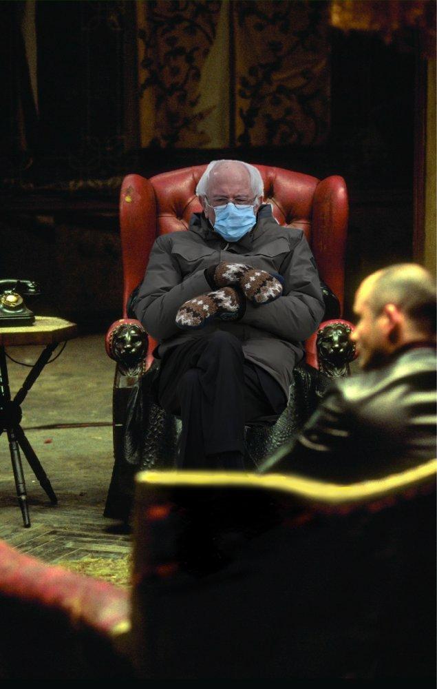 Bernie as Morpheus.  Matrix edition.  #Berniememes #BernieSanders