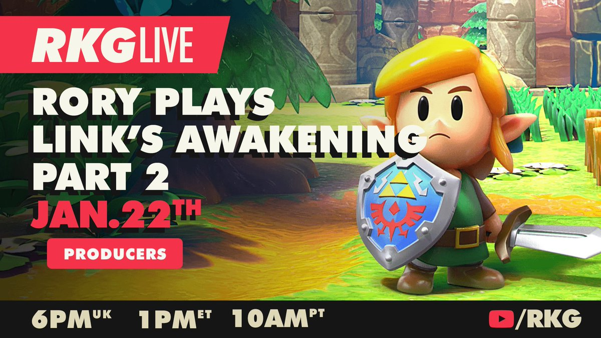Producers! Rory's just about to start PART 2 of his Link's Awakening play through...  And he may or may not be making Zelda themed cocktails  📺