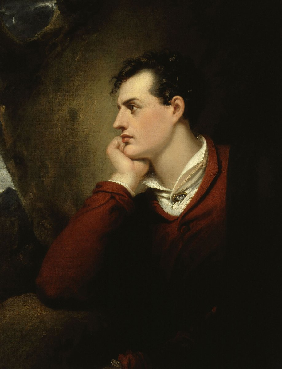 """With pleasure drugged, he almost longed for woe, And e'en for change of scene would seek the shades below."" - Byron  #LitTwitt #QuoteOfTheDay #Quote #Byron #LordByron #OTD #Poetry #Romanticism #Humanities #FridayMorning #FridayThoughts #FridayVibes"