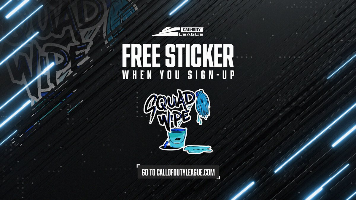 Show the lobby you mean business with the Squad Wipe weapon sticker.  Yours FREE by signing up for updates at