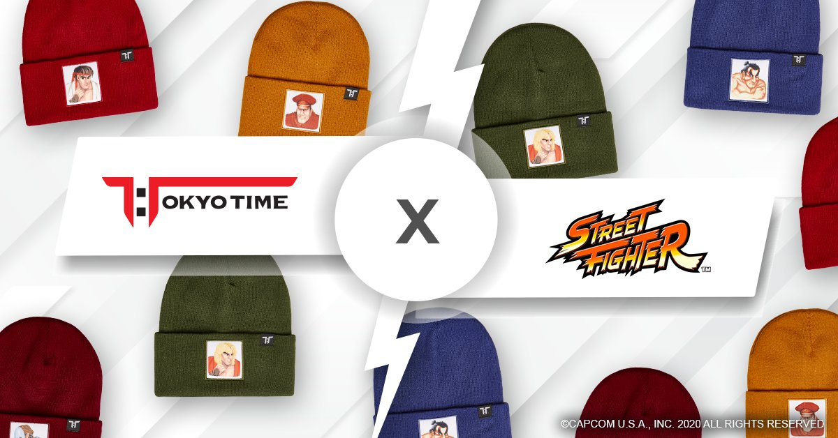 Check out this official @StreetFighter headwear range by @tokyo_time  The line includes the iconic Street Fighter II pixel art for Ryu, Ken, Chun-Li and more