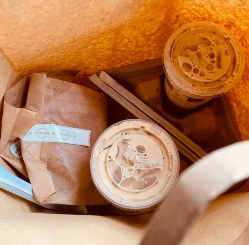 On a rainy day, why go to coffee when coffee can come to you? Skip the trip and get it delivered with our app. #FridayFeeling