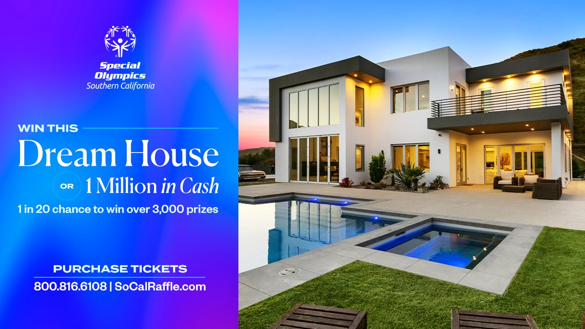 Get excited for the 2021 #DreamHouseRaffle...you could win a dream house or $1M or one of over 3000 prizes all while supporting SOSC! Website launches & raffle tickets sales begin 1/25 at ! #WeAreSOSC #FridayFeeling #SoCalRaffle #DoGood #DreamBig