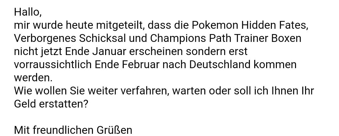 #HiddenFates verspätet sich wohl in Deutschland (╥﹏╥) #PokemonTCG  #Pokemon25  #Pokemon