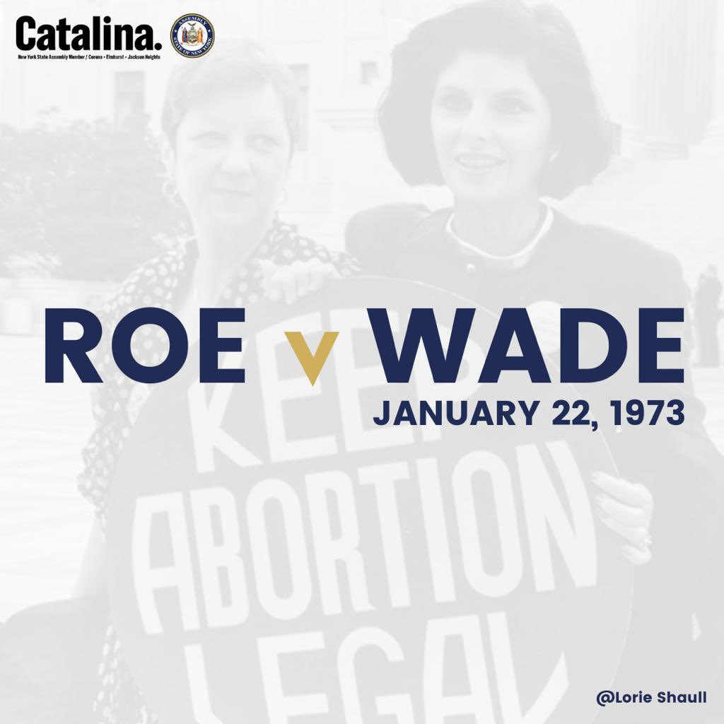 Today we commemorate our right to choose over our own body. We honor those who who helped #RoevWade & the New York State's Reproductive Health Act be a reality. We recommit to the fight ahead- for equality in health care, for equality in pay, for equality as womxn. #ReproHealth