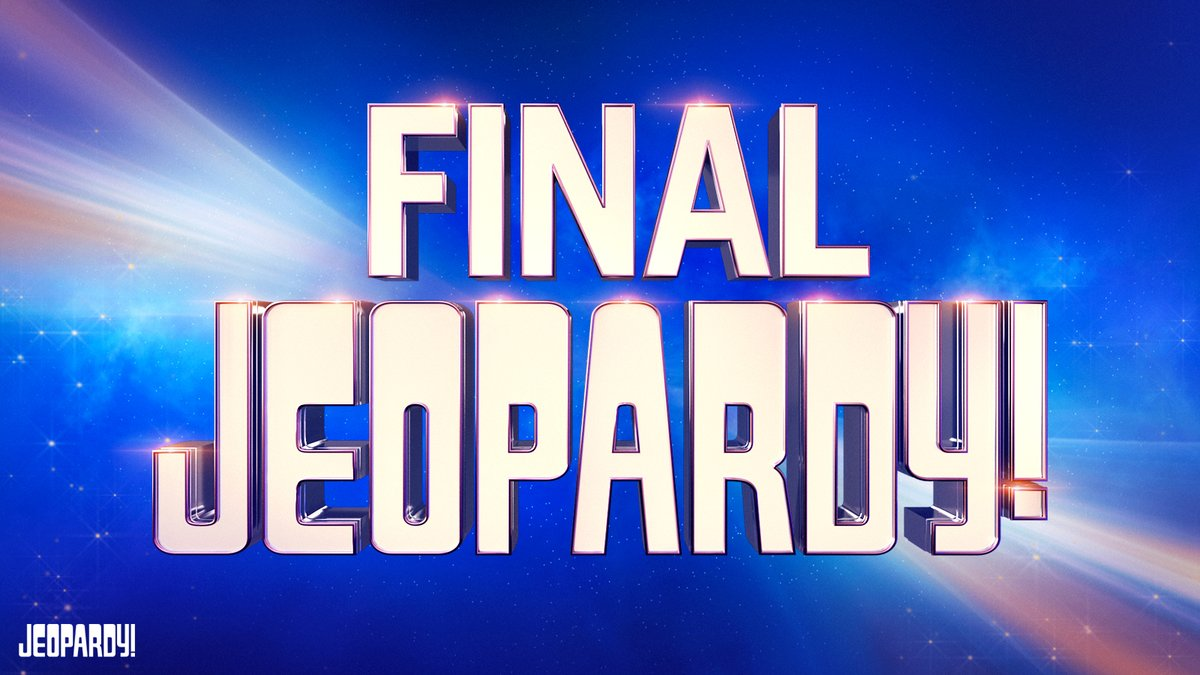 🚨 Alert 🚨   Something crazy happens in today's Final Jeopardy!