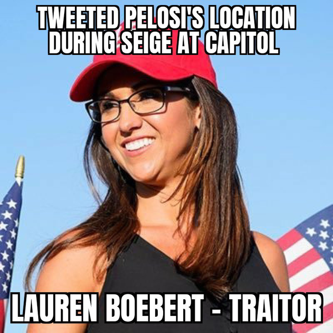 "@RepBoebert Yes, Ma'am, let's talk about ""wrong"". #ArrestBoebert  #BoebertIsATraitor"