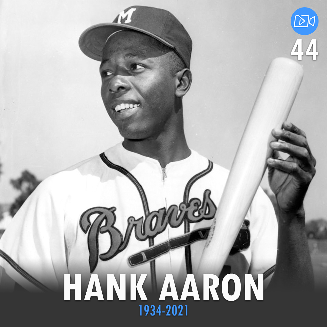 """""""My motto was always to keep swinging. Whether I was in a slump or feeling badly or having trouble off the field, the only thing to do was keep swinging."""" - Hank Aaron  #HankAaron #Hank #baseball #mlbbaseball #mlb #halloffame #legend #LegendsNeverDie #LegendsLiveForever"""
