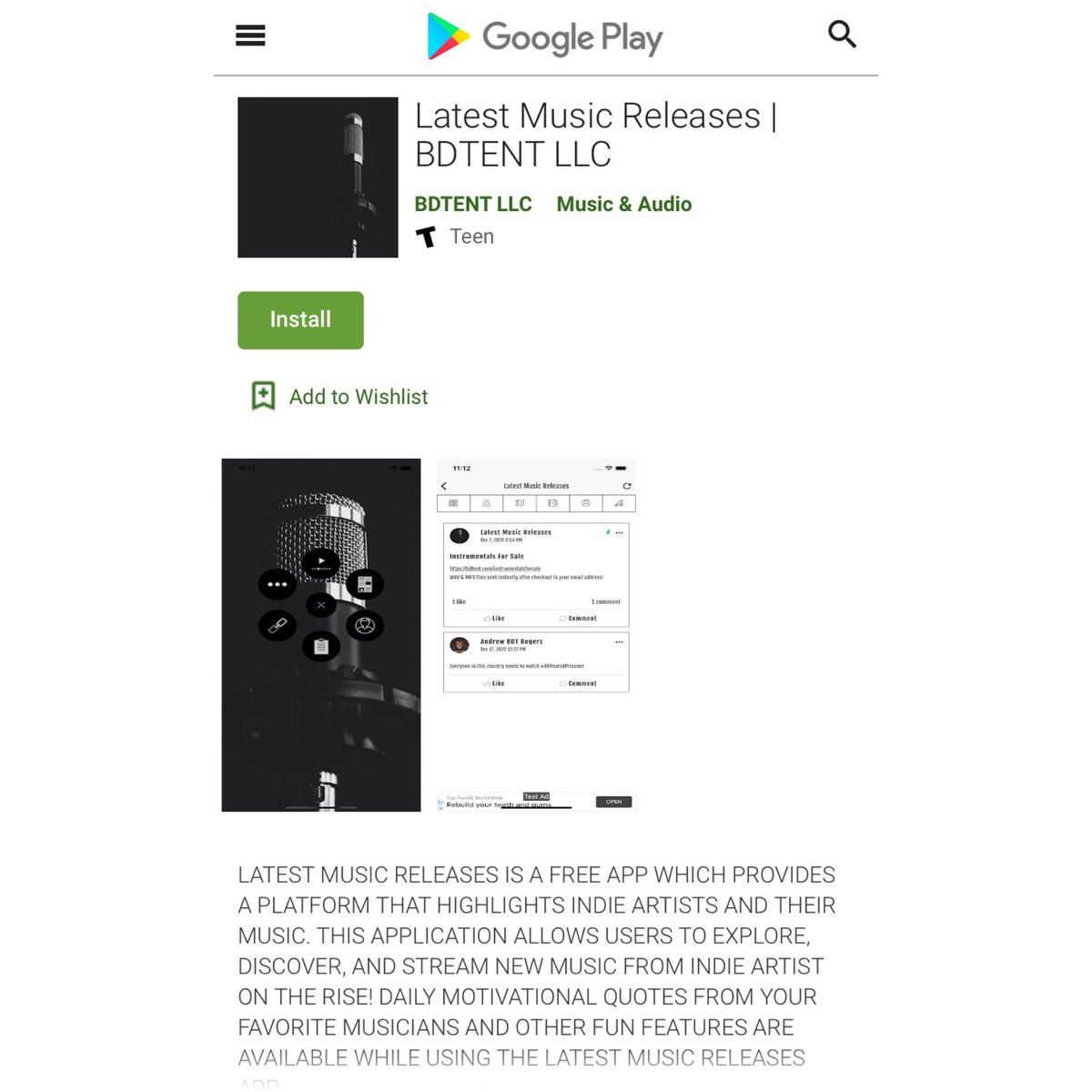 Available on Google Play now! 📱🔥📈 #newapp #indie #music #app #googleplay #newmusic #latestmusicreleases #FridayVibes