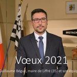 [Vœux 2021] Après cette année 2020, soyons optimiste, espérons que 2021 nous permette un retour à une vraie vie sociale. Le Maire de Liffré (35), Guillaume Bégué avec son équipe, adresse leurs vœux aux https://t.co/yXemFIokEy.s https://t.co/EwPq7n0C3T