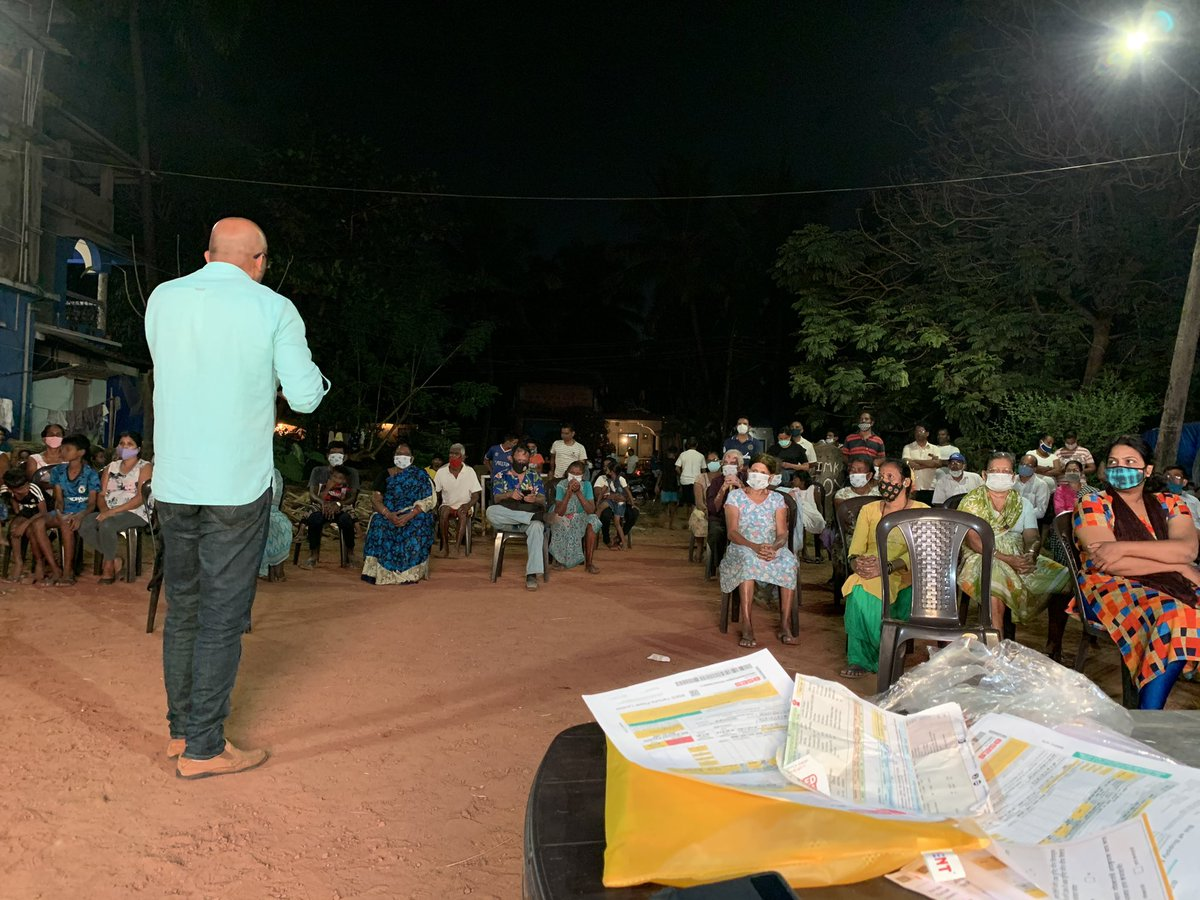 #VeezAndolan people are energised to bring a change in Goa. People from Naveli-Salcete attending today's meeting