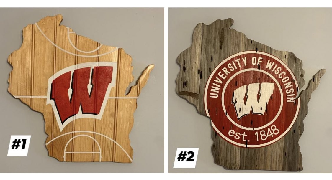 Which one do you like? #OnWisconsin #Badgers  @BadgerMBB