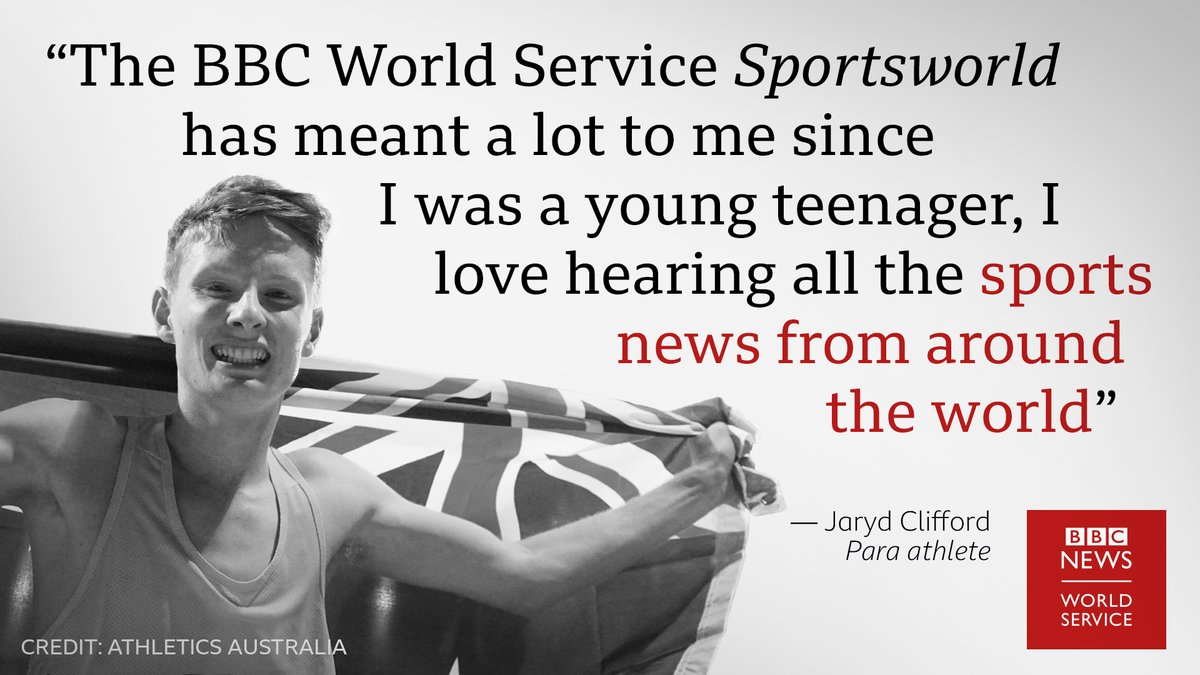 High five @BBCWSSport #sportsworld and thank you @JarydClifford for the support! #BBCWorldService