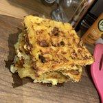 Image for the Tweet beginning: Breakfast prep complete! 🙊 Waffles