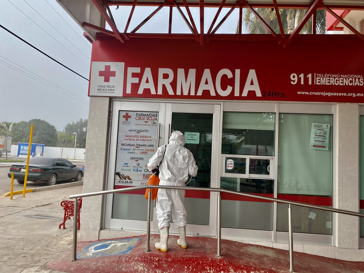 #ENTERATE el día de hoy, Cruz Roja Guasave  sanatizo  sus instalaciones, como prevención ante #CoronaVirus #COVID19. #QuedateEnCasa #SanaDistancia #UsaCubrebocas #UsaGelAntibacterial