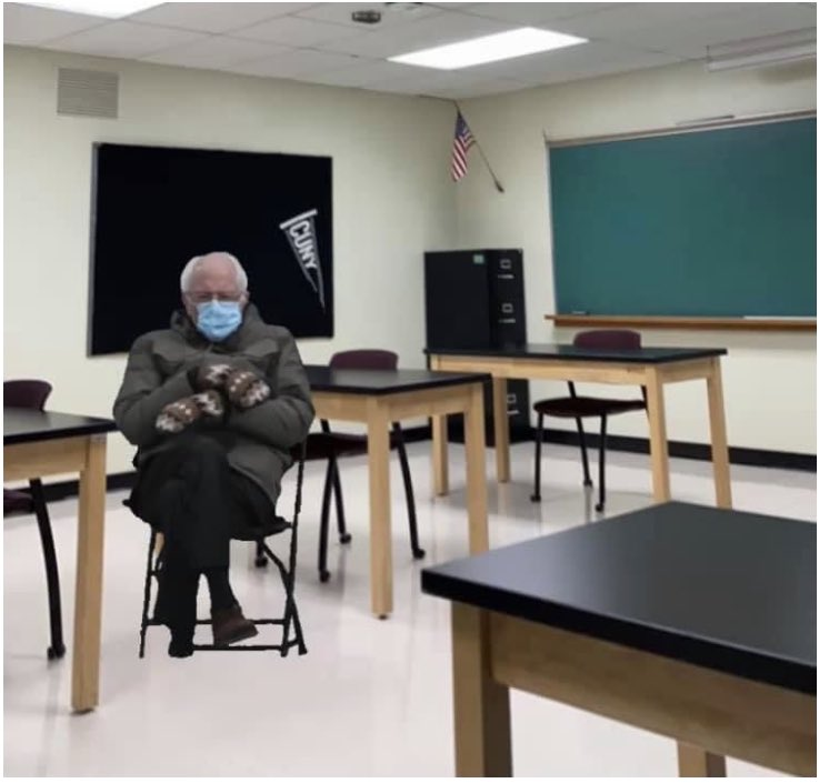 @BernieSanders and his mittens made an appearance at the @PenfieldCSD PHS Testing Center Today! #BernieSandersMittens #Berniememes #PHS