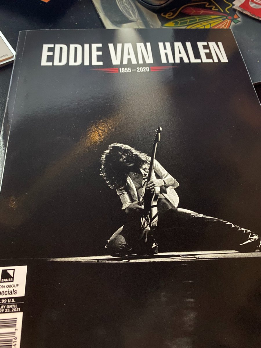 Mail call. I have some very thoughtful friends. One in particular decided to send me this on Day 109 A.E. (After Eddie). #EVH #KINGEDWARD