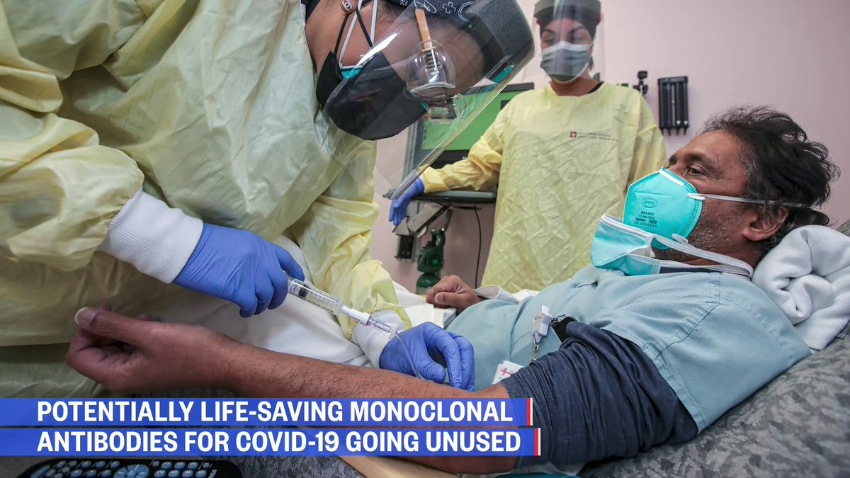 Potentially life-saving monoclonal antibodies for Covid-19 are going unused.  @kristendahlgren explains why and who is eligible for them.   Watch NOW: