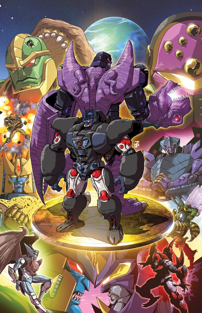 My cover for #IDWs #BeastWars issue 3 was shown off in solicitations: seibertron.com/transformers/n… I figured Id post the cover sans logos and stuff! Was a lot of fun and I really appreciate getting to do another cover for Transformers! (I wanted to wait a little but I got excited)
