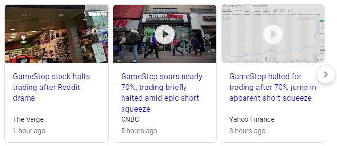 You know, there's something poetic about a company called #GameStop getting their own stock gamed by amateur investors $GME https://t.co/a5qDqhCLLT