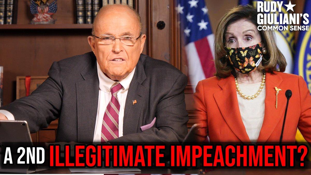 A SECOND Illegitimate Impeachment?   Watch Rudy Giuliani break it down HERE: