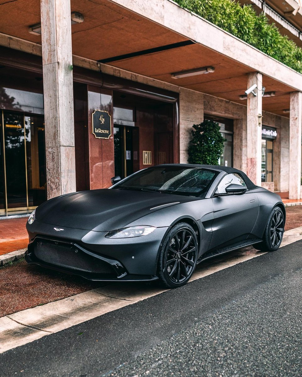 Delivery of the day!  This beautiful Satin Xenon Grey Aston Martin Vantage Roadster with an Obsidian Black & Spicy Red interior is our delivery of the day!  What do you think of this setup?  #AstonMartin #Vantage #Roadster #VantageRoadster #DeliveryOfTheDay #Live #SatinXenonGrey