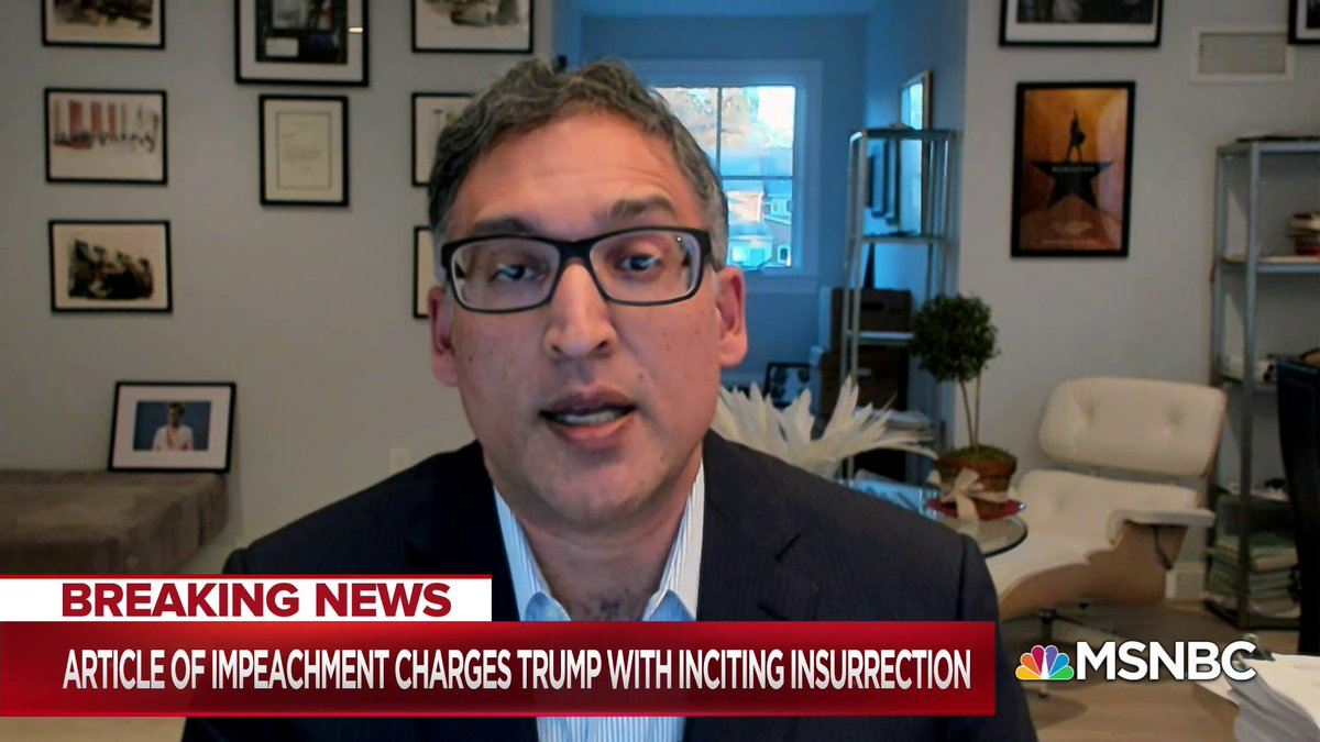 """""""Saying Trump shouldn't be tried because he left office is like saying you shouldn't prosecute a murder because the victim's already dead.""""  - @neal_katyal w/ @NicolleDWallace"""