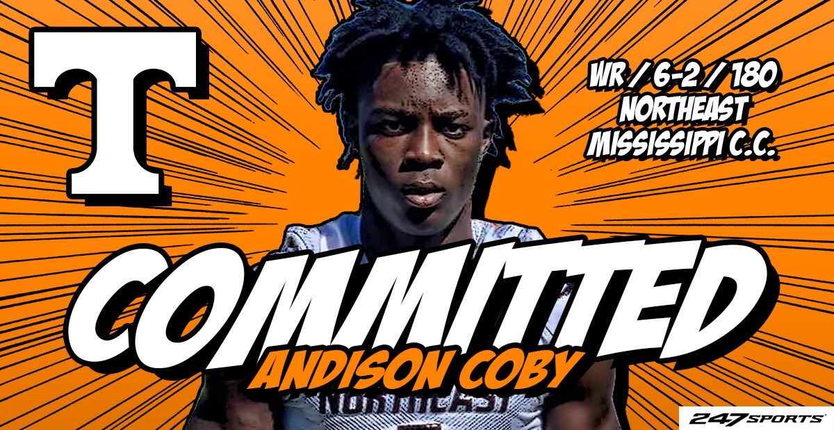 BREAKING: Juco WR @AndisonCoby commits to #Vols, set to enroll at #Tennessee: (FREE)