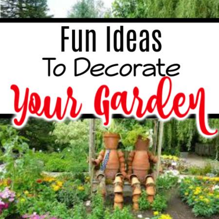 Fun Garden Decoration Ideas   #growsomethinggreen #gardener #greenthumb #wholefoods #organic #gardeningknowhow #gardeningistherapy #urbangardenersrepublic #gardening101 #homegarden