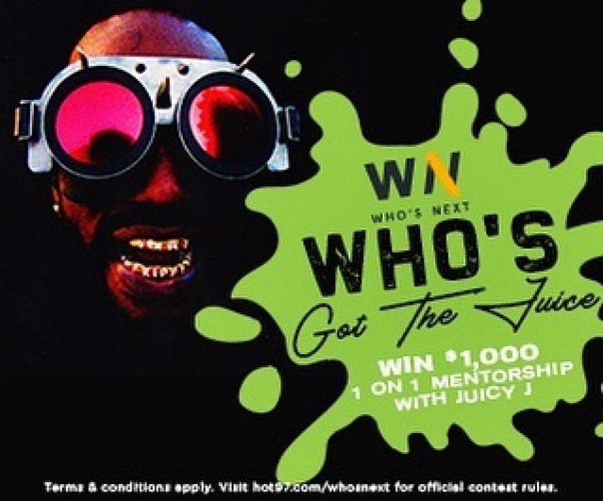 """Are YOU an unsigned artist? 👀🎶   Enter the """"Who's Got The Juice"""" contest for your chance to win a 1:1 mentoring session with academy award winning producer @therealjuicyj + $1000 Cash.🔥🤑   If you got that heat, submit your music now! -"""