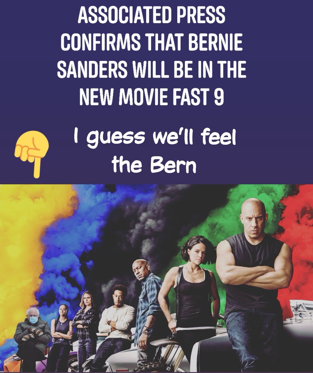 It's official @TheFastSaga coming with the addition of @BernieSanders chair and all.  #funnysanders #sanderandchair #FeelTheBern #Fast9