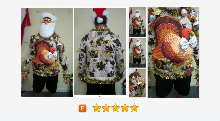 Iconic Hodge Podge of Thanksgiving Sweater Christmas Tacky Ugly Christmas Sweater Christmas Turkey sweater, sz Large, Annalee pilgrim mice #ugly #tacky #clothing #Thanksgiving #uglysweater   (Tweeted via )