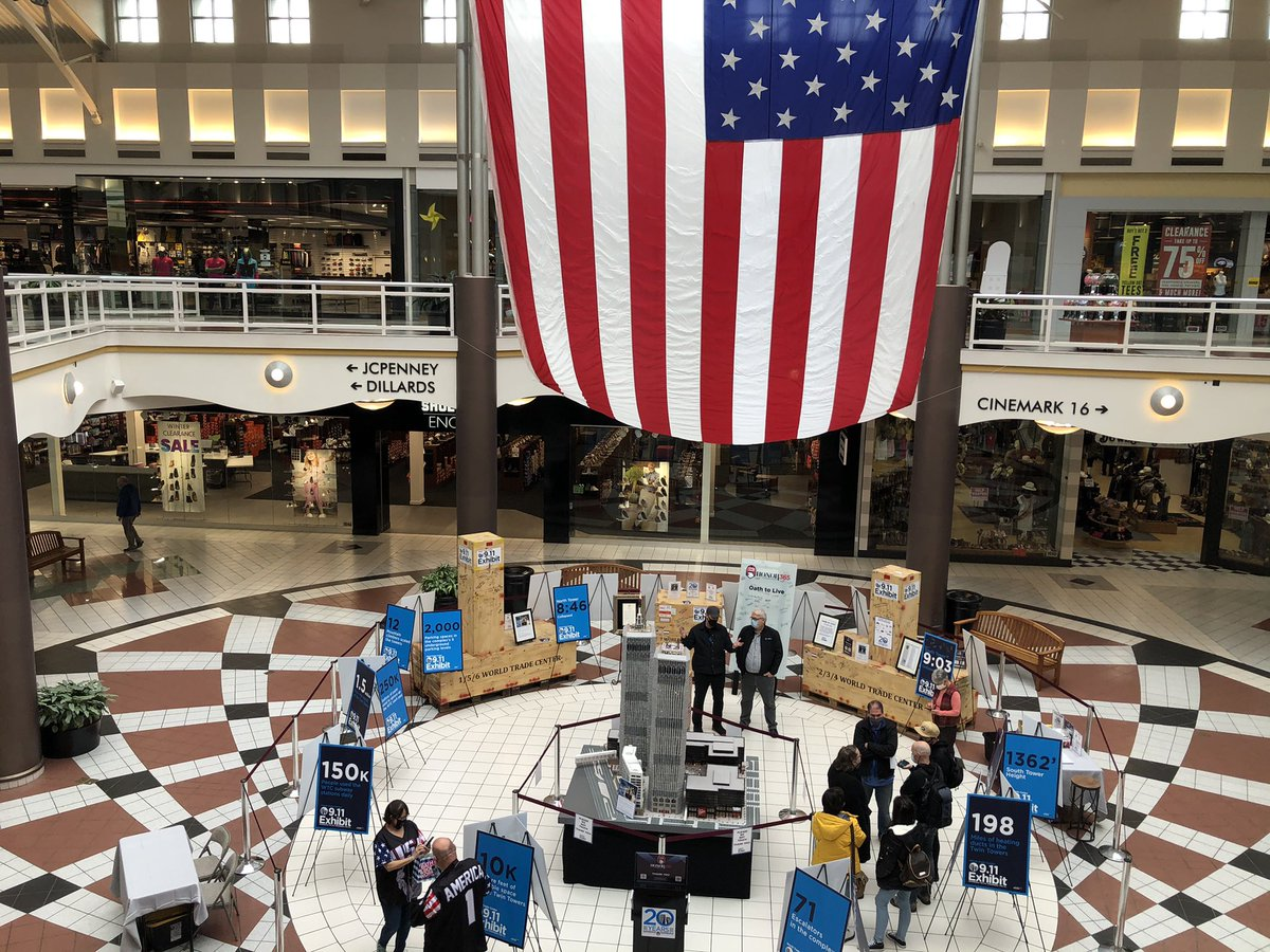 The #honor365 #wtc911exhibit is now on display in the Provo Towne Center. What's it all about? We're doing a story on it for @KSL5TV at 6. Its nationwide tour began this morning. #ksltv #provo #september11