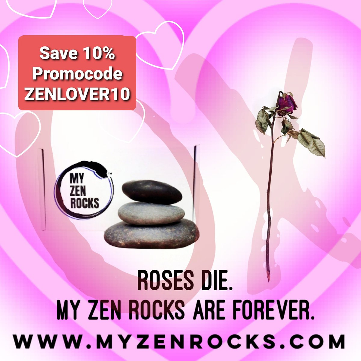 Don't buy her dying flowers... buy her endless Zen... #MyZenRocks #minimeditation #zen #thezenguide #roses #flowers #vday #gifts #promocode #save10 #zenlover #giftideas #giftsforher #giftsforhim #valentinesdaygifts #funnygifts #love