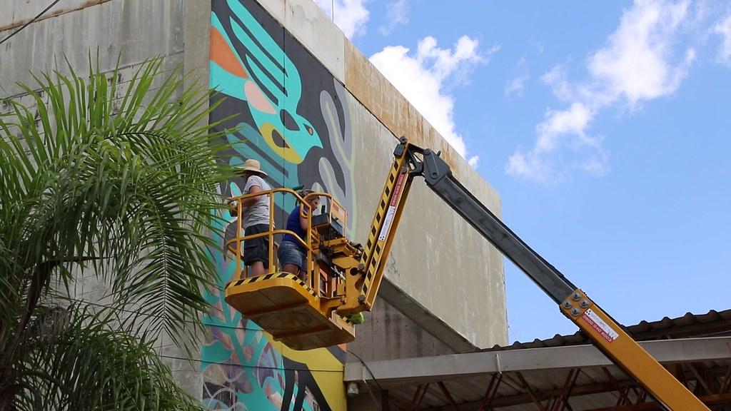 Do meu Flickr Pintura de painel na Arautos da Paz - 22-1-20201  #photooftheday