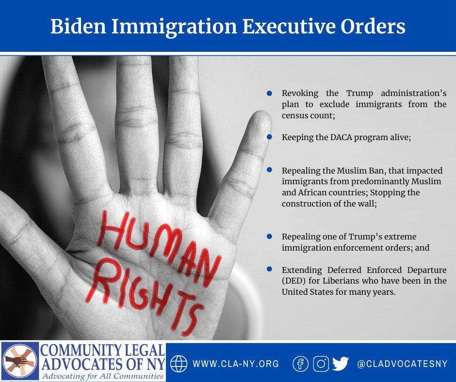 A summary of the Biden/Harris Administration Day ONE! #allofus #nomuslimban #census2020 #humanrights #weallcount