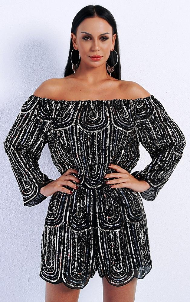 BLACK BEADED PLAYSUIT  This beautiful elegant dress is Available for purchase at  #dresses #fashion #dress #style #ootd #shopping #fashionblogger #love #fashionista #beauty #atlanta #clothing #summer #boutique #womensfashion #model #photooftheday #women #