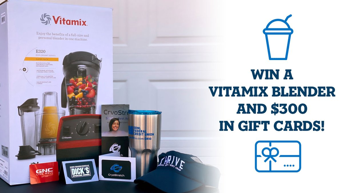 ENTER TO WIN a Vitamix Blender and three $100 gift cards to Dick's Sporting Goods, GNC, and @CryoStretch. Simply FOLLOW ➕ us, RT 🔁, and REPLY 💬 what you would blend in your Vitamix!   Triple your chances, enter on our Instagram & Facebook! Winner will be announced 1/29.