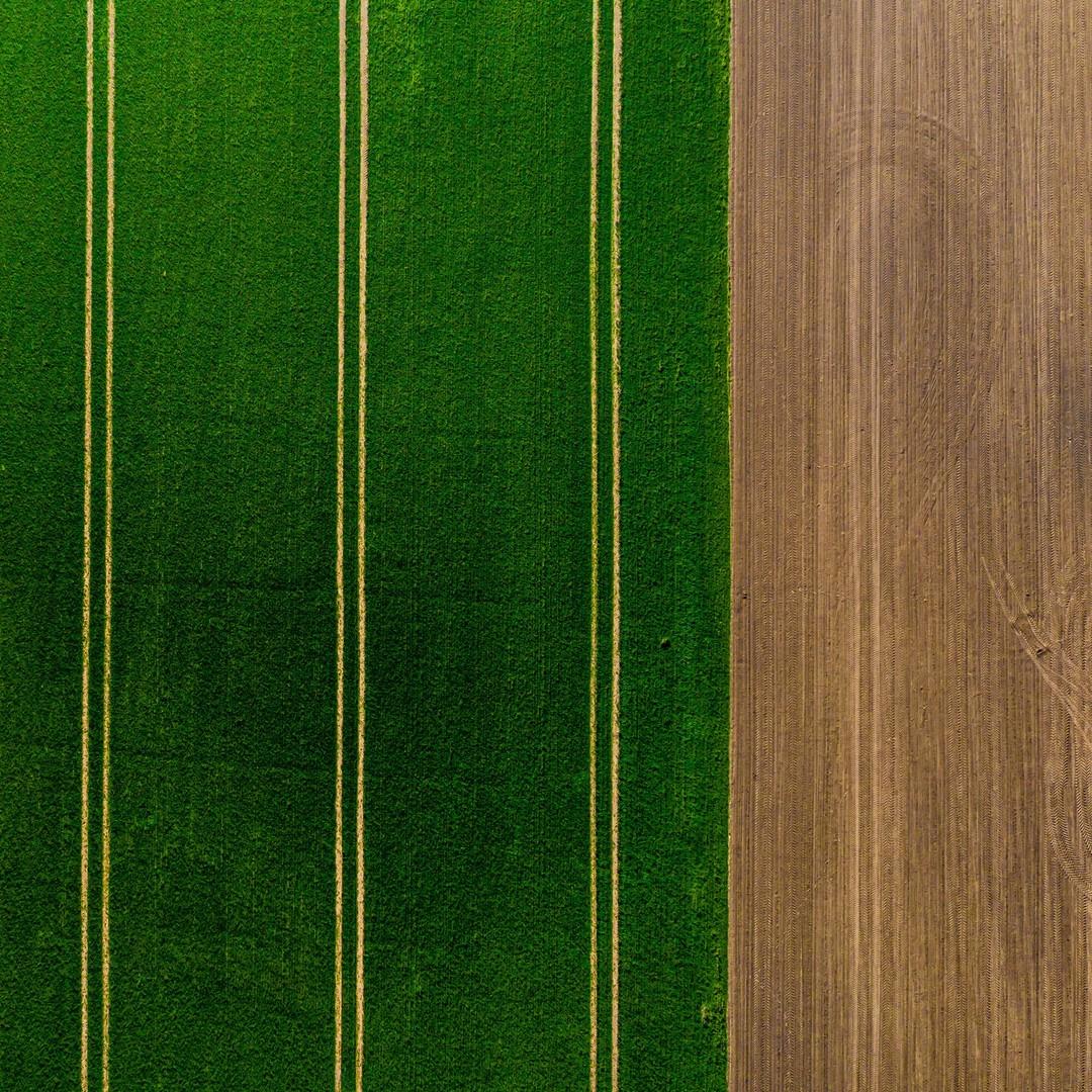 En cada nuevo vuelo descubrirás nuevas formas, simetrías...¡esto de volar engancha!  #field #granja #simetría #simetry #lines #green #marron #brown #verde #drone #DJI #autel #xiaomi #parrot #air #volar #fpv #UAS #future #dronestagram #dronedaily #nature #dronephoto #dronefly #dro