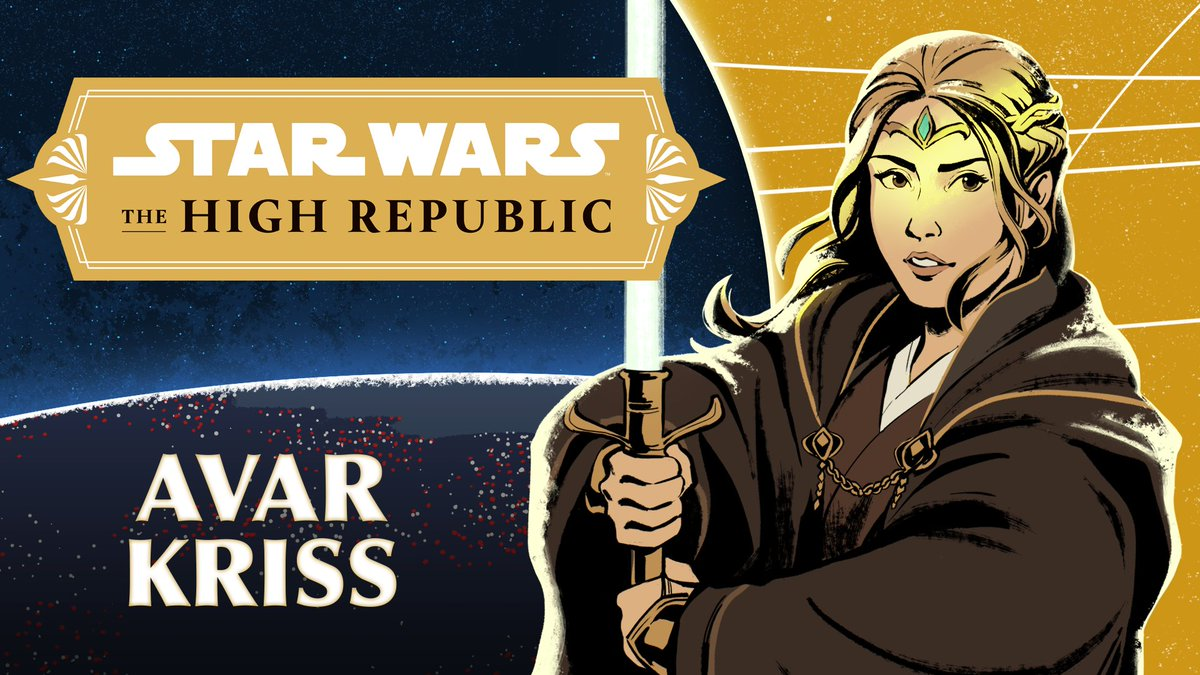 Avar Kriss is a pragmatic Jedi Master of the High Republic era, eager to shine the light of the Jedi in the furthest corners of the galaxy. #StarWarsTheHighRepublic