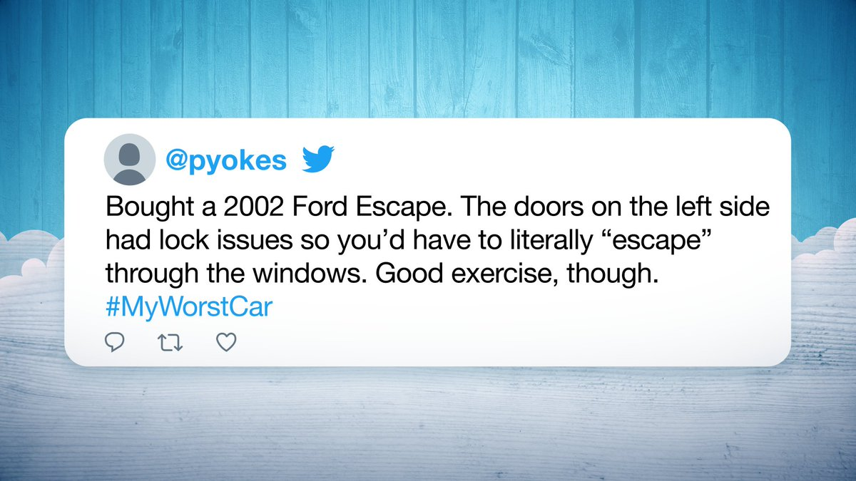 Let these #MyWorstCar tweets fuel your #FridayFeeling 🚗  More #FallonTonight Hashtags ➡️