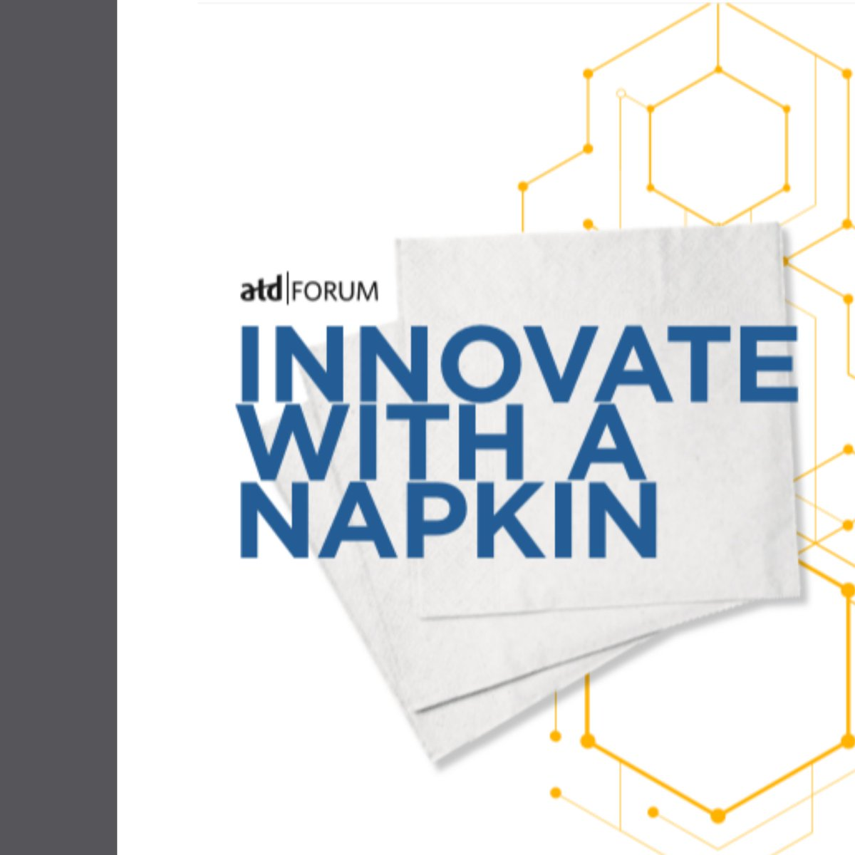 When you need a short and simple way to communicate a new concept, grab a napkin!   Download this guide from ATD Forum to learn how to use the napkin pitch technique: https://t.co/4MP4L3GGlM #talentdevelopment #learning #training #designthinking #innovation https://t.co/wmXiMNtX6N